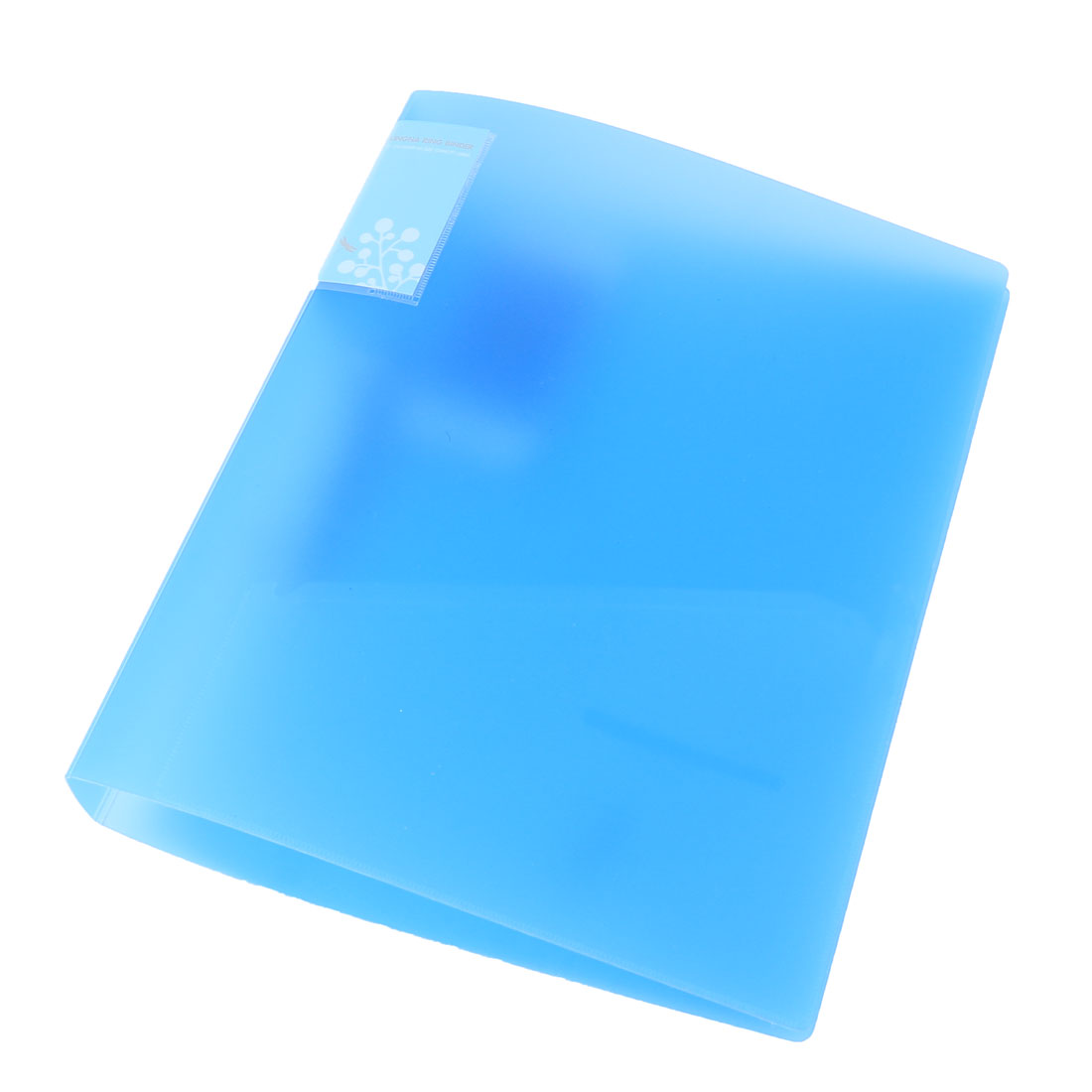 Office Plastic Shell Metal Clip A4 Papers Documents File Holder Folder Blue