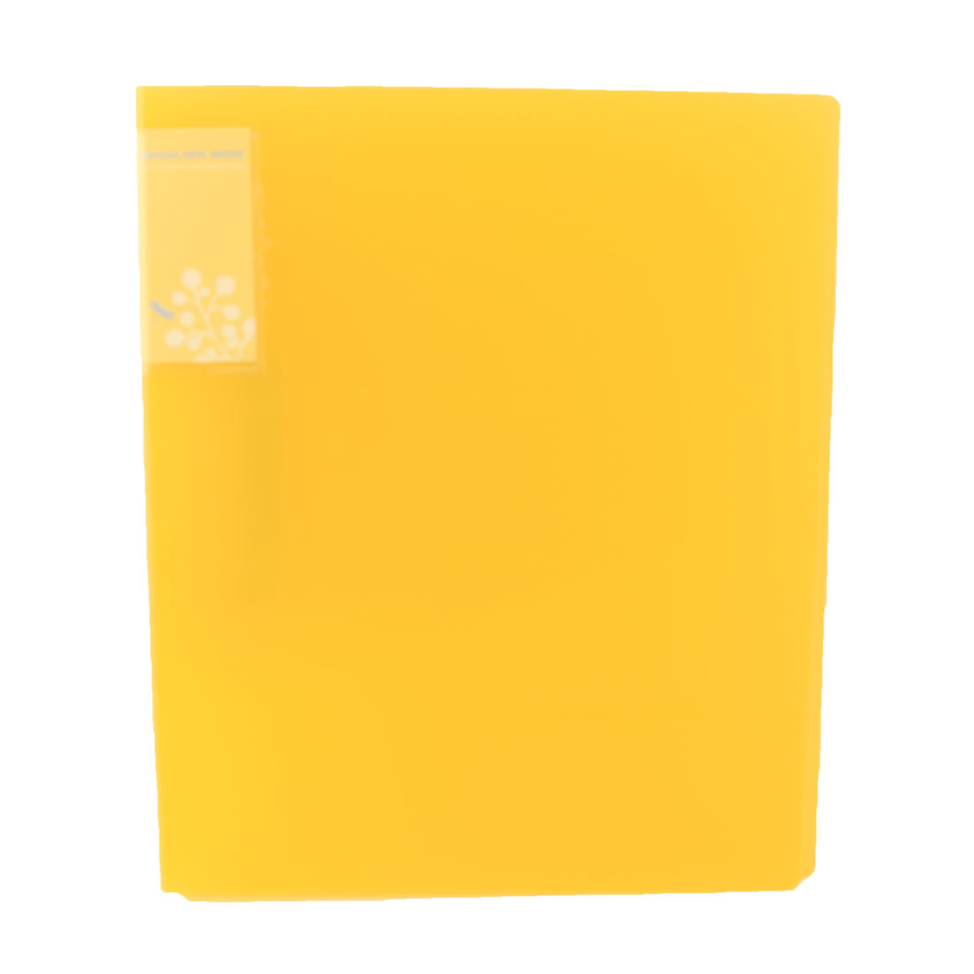 Office Plastic Shell Metal Clip A4 Papers Documents Organizer File Folder Yellow