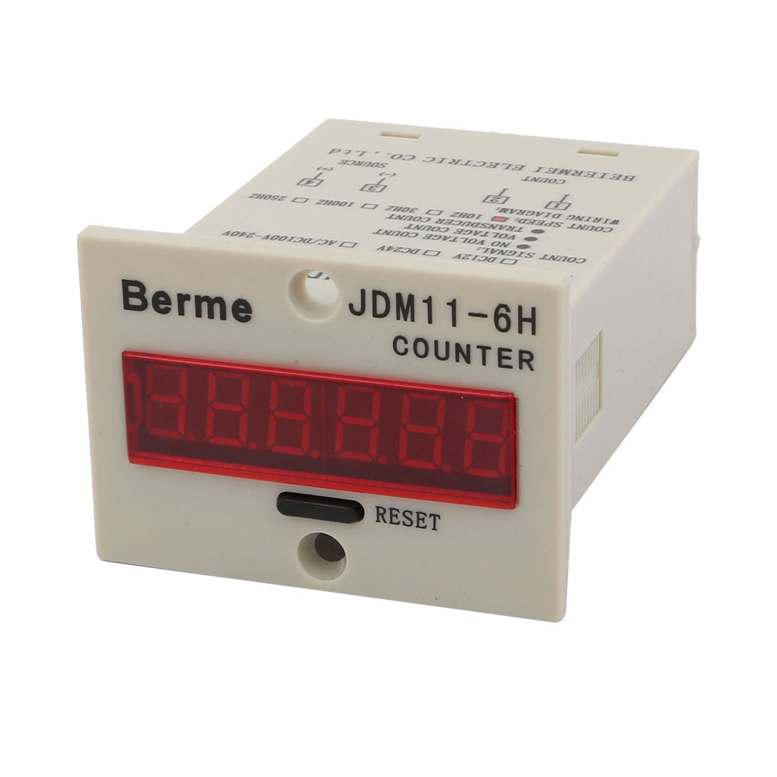 JDM11-6H Panel Mounted AC220V 10Hz Resettable Electronic Counter Digital Display
