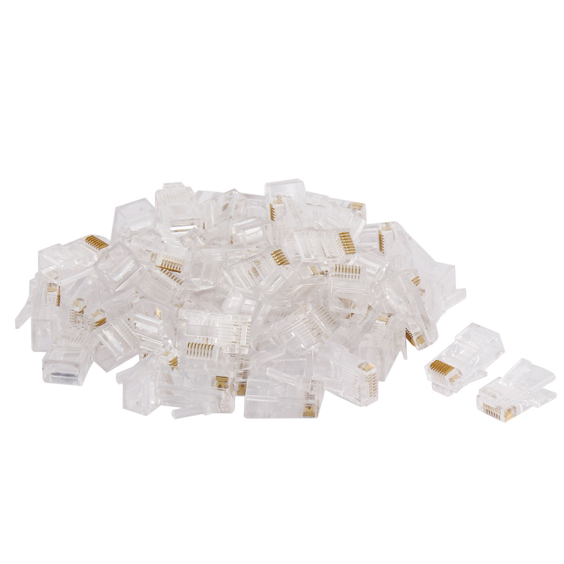 RJ45 CAT5 8P8C Modular Adapter LAN Network Connector Clear 60 PCS