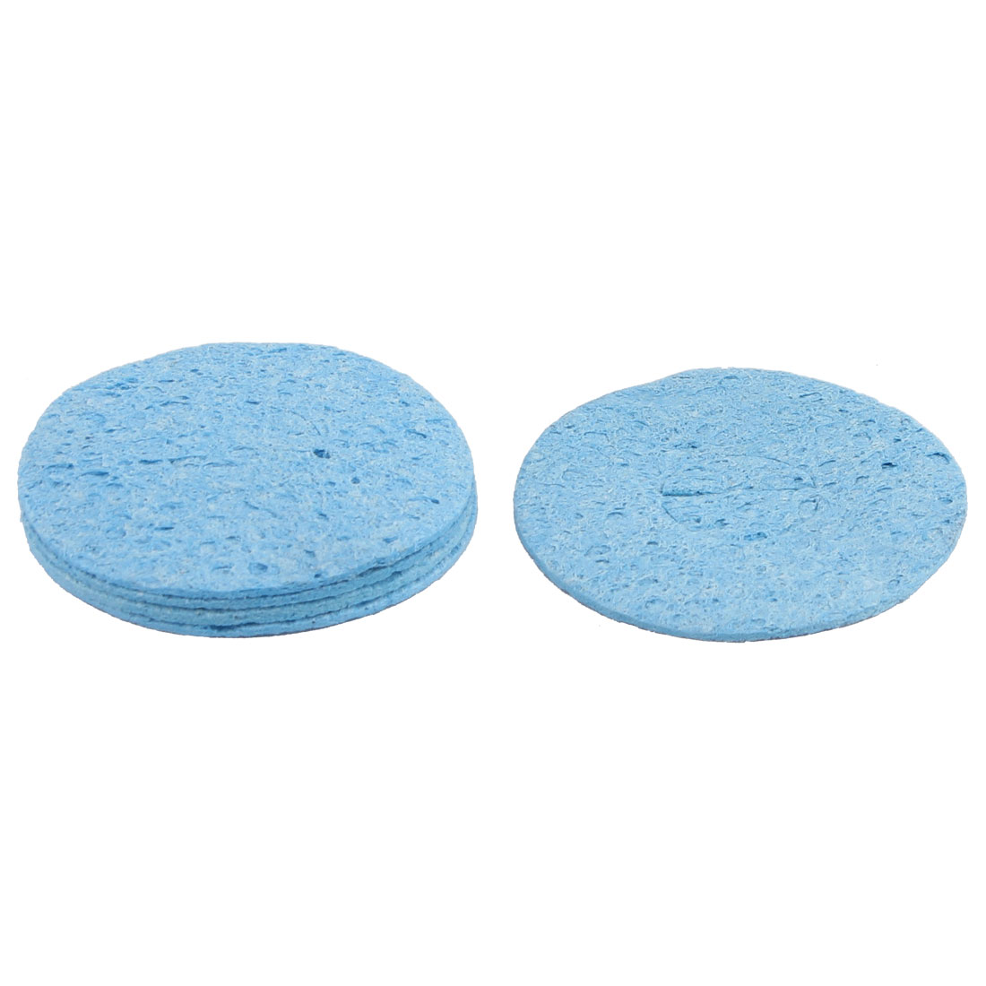 Solder Iron Cleaning Sponge Replacement Blue 6cm Dia 5 PCS