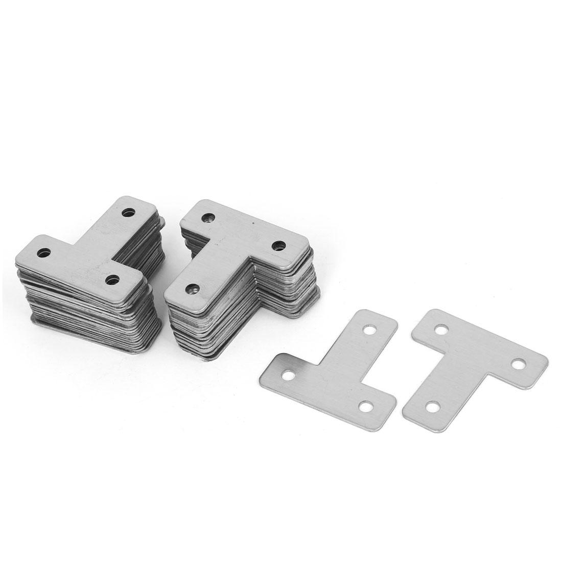 40mmx40mm T Shaped Metal Flat Plate Corner Brace Angle Bracket Support 50pcs