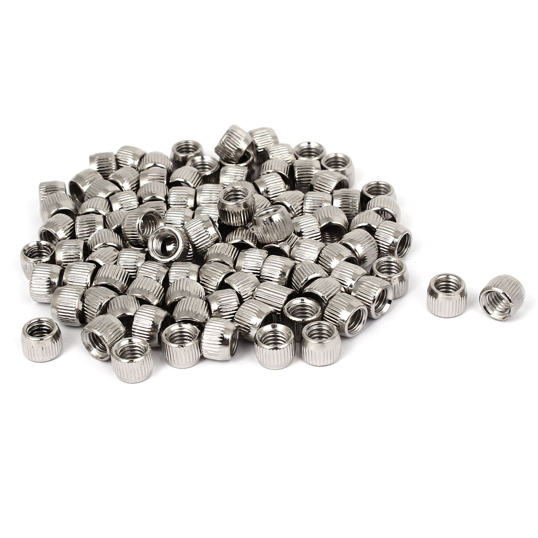5mm Female Thread Cone Shaped Metal Conical Nut Fastener 100pcs