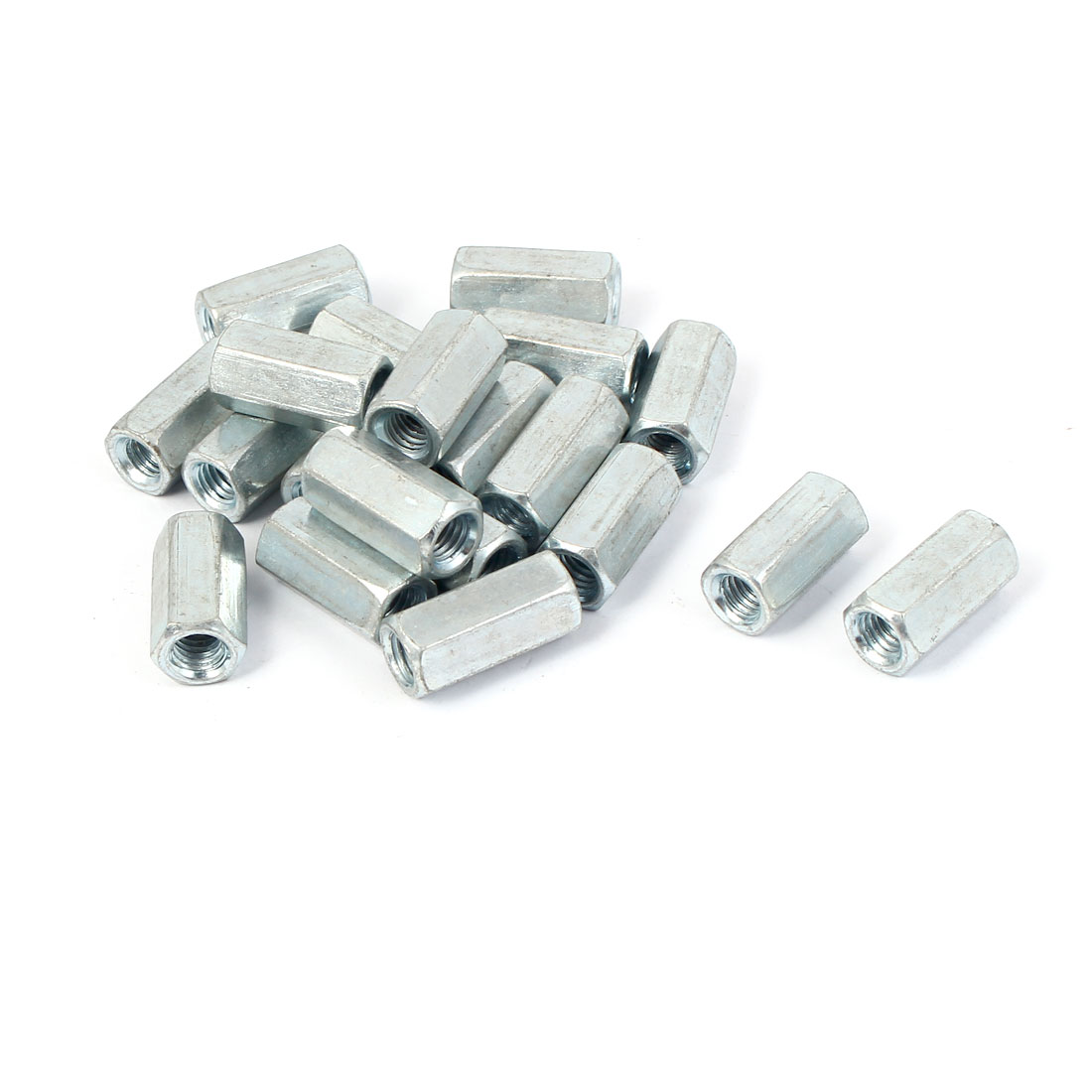 M6 Female Thread Rose Joint Adapter Threaded Rod Bar Stud Hex Coupling Nut 20PCS