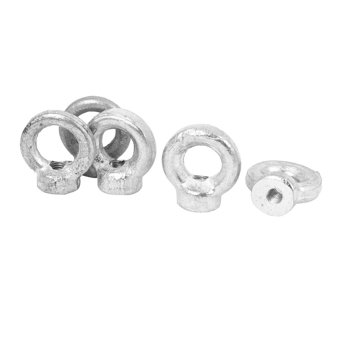 M6 Female Thread Carbon Steel Lifting Eye Nuts Rings Bolts Fastener 5 Pcs