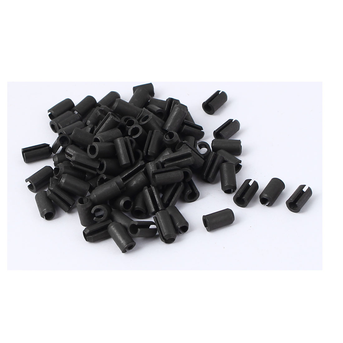 M4 x 8mm Split Spring Dowel Tension Roll Pins Fasteners Hardware Black 100 Pcs