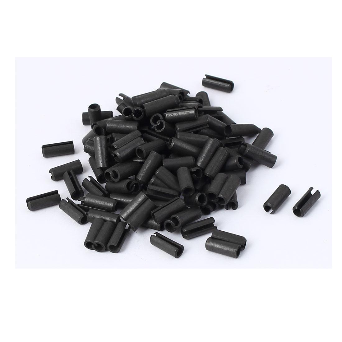 M3 x 8mm Roll Pin Steel Split Spring Dowel Tension Fasteners Snap Black 100 Pcs