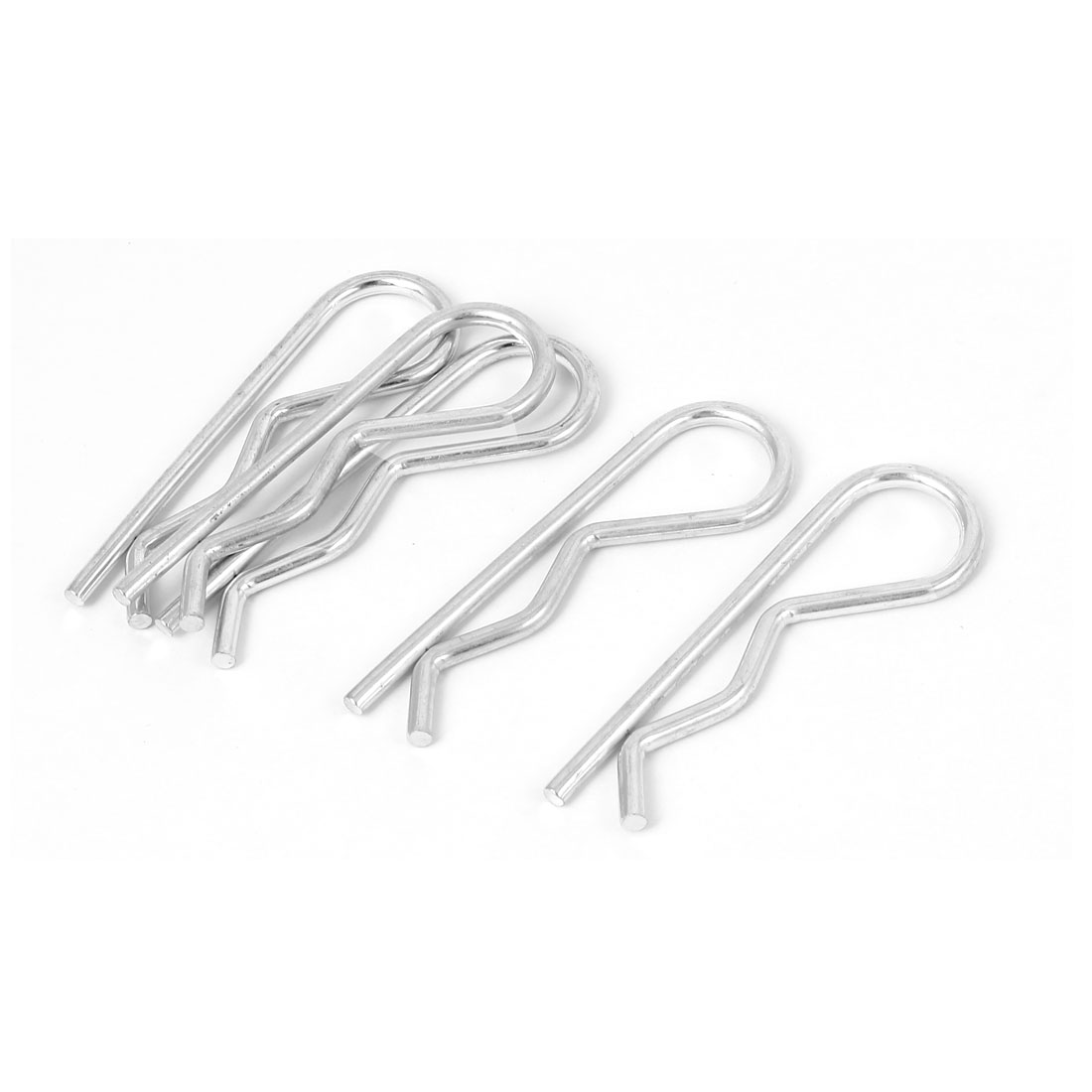 3.5mm x 65mm R-Clip Spring Cotter Tractor Pins Silver Tone 5 Pcs
