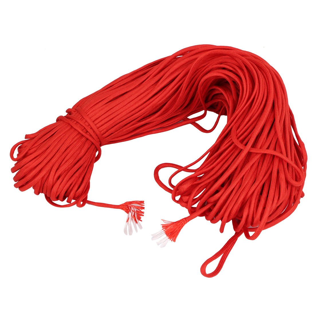 100M Length Outdoor Hiking Umbrella Tied Tents Survival Cord Safety Rope Red
