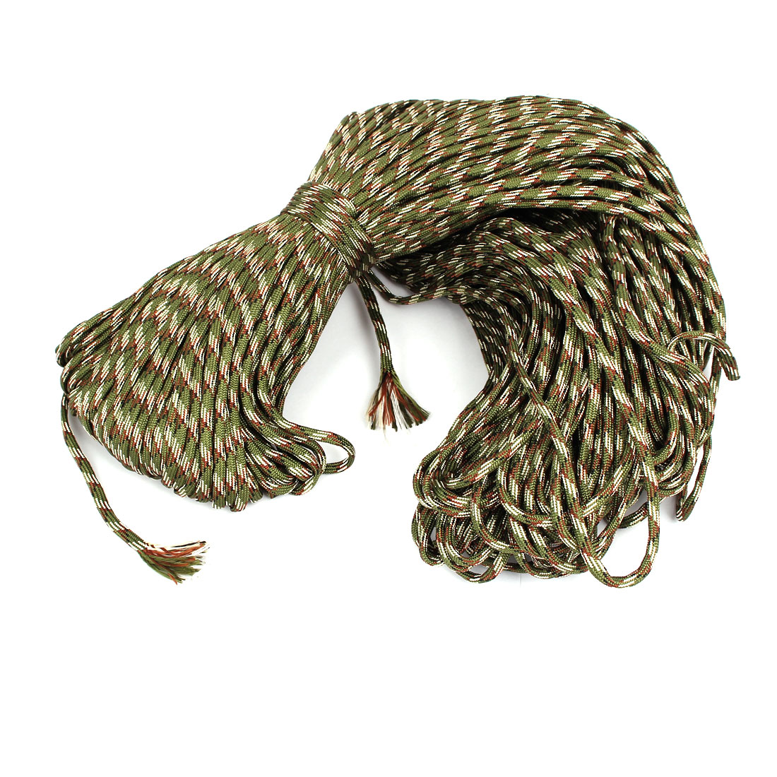 100M Length Outdoor Hiking Umbrella Tied Tents Survival Cord Safety Rope Army Green
