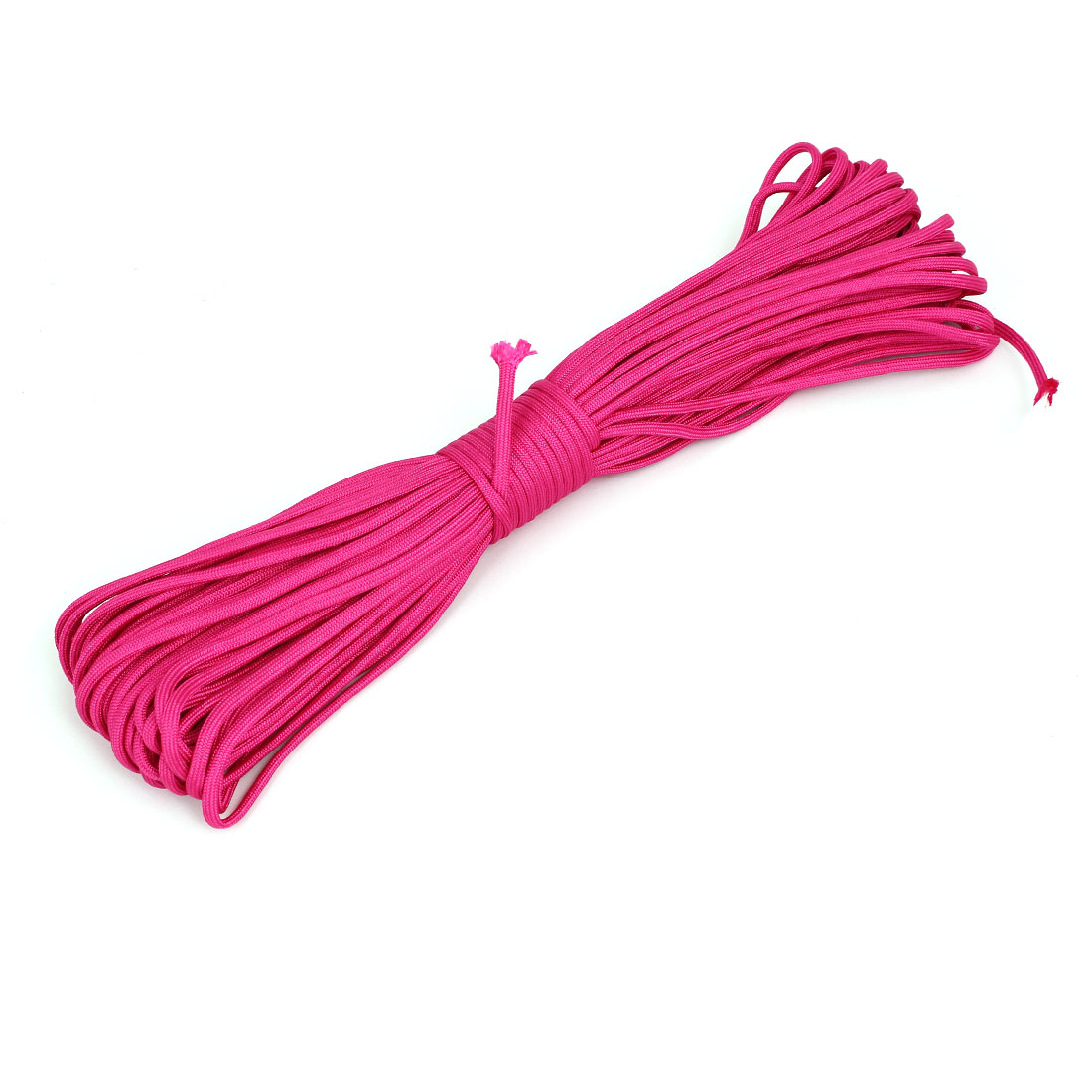 30M Length Outdoor Hiking Umbrella Tied Tent Survival Cord Safety Rope Rose Red