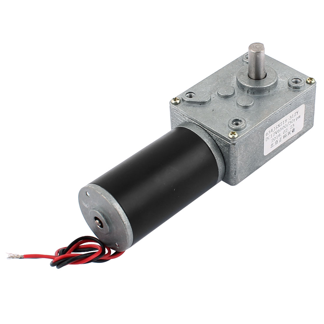 DC 12V 30RPM 8mmx14mm D-Shape Shaft Electric Power Turbo Worm Geared Motor