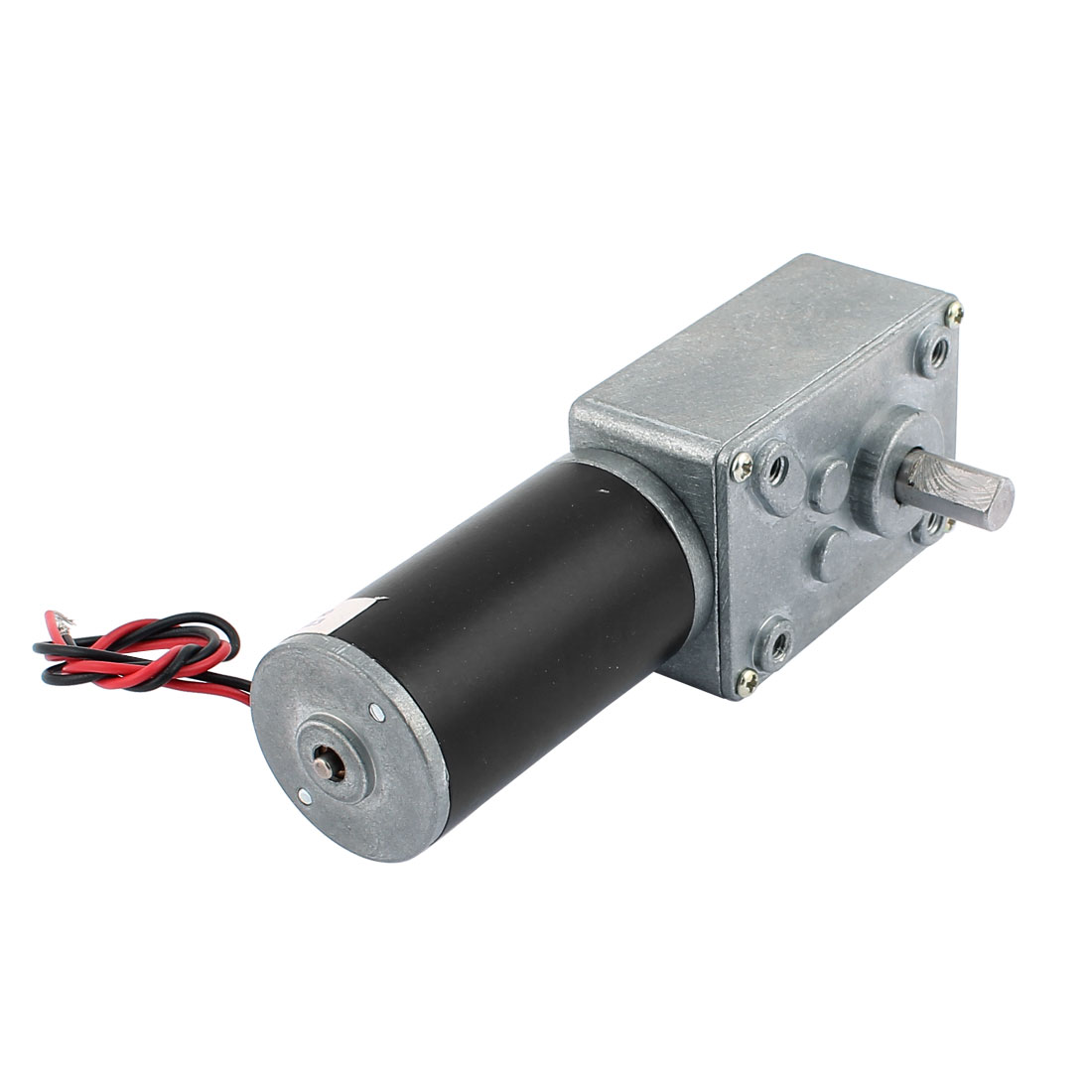DC 12V 100RPM 8mmx14mm D-Shape Shaft Electric Power Turbo Worm Geared Motor