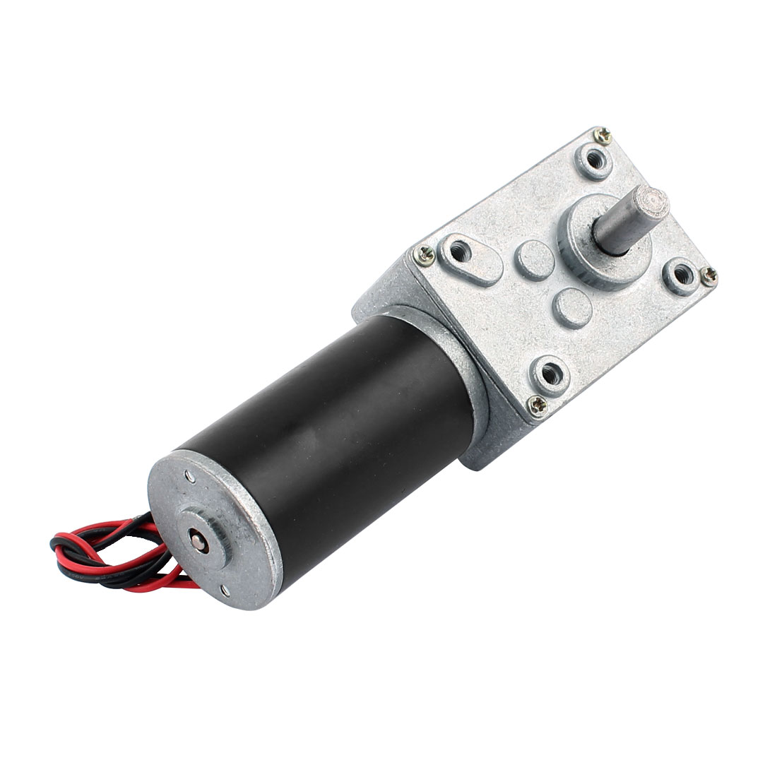 DC 24V 15RPM 8mmx15mm Dual D-Shape Shaft Electric Power Turbo Worm Geared Motor