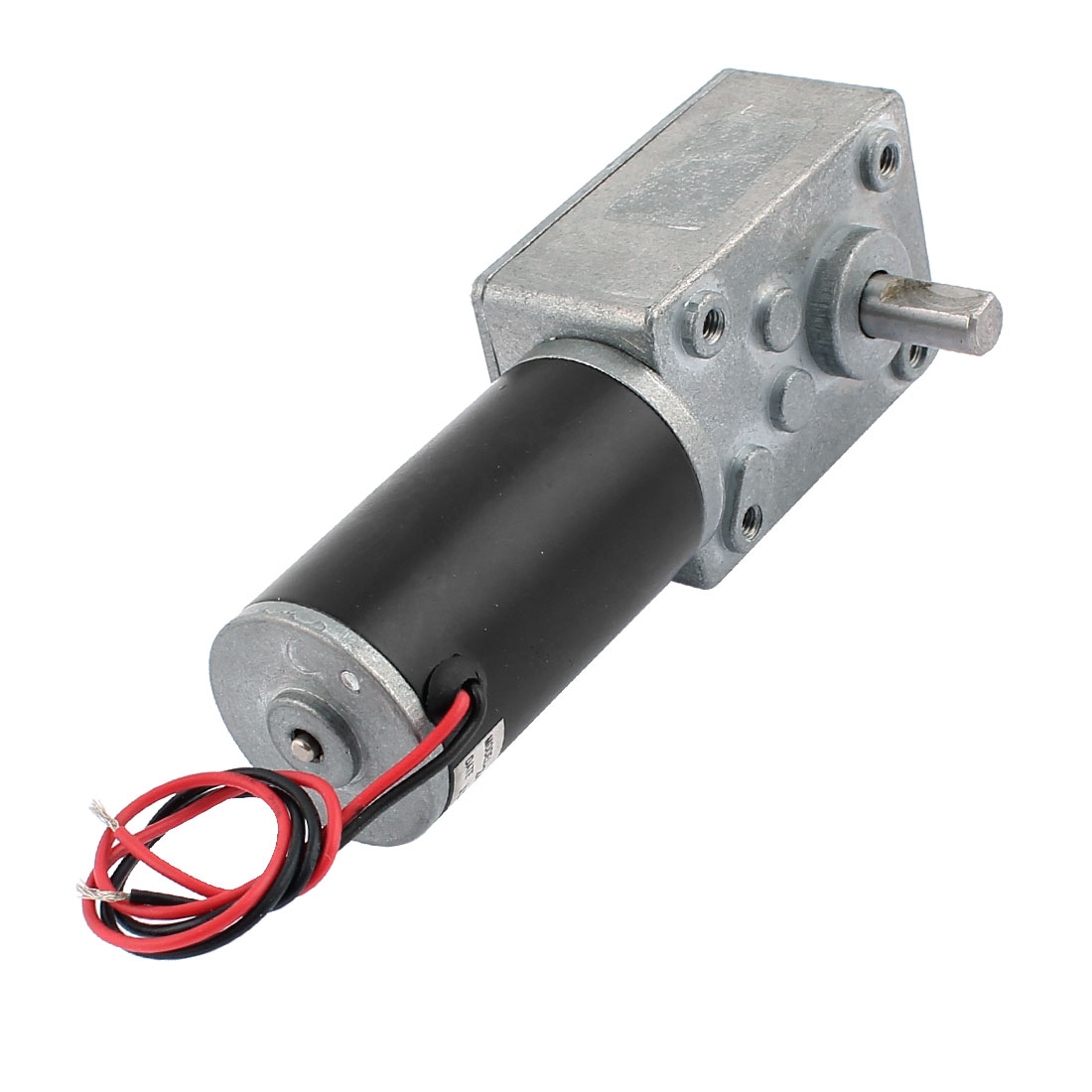 DC 24V 30RPM 8mmx15mm Dual D-Shape Shaft Electric Power Turbo Worm Geared Motor