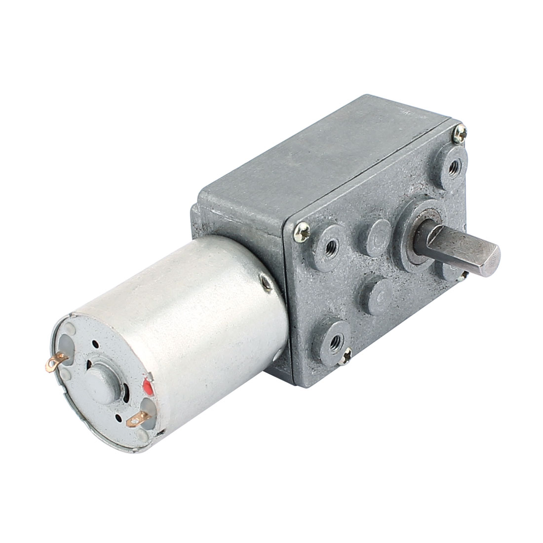 DC 12V 60RPM 6mmx13mm D-Shape Shaft Electric Power Turbo Worm Geared Motor