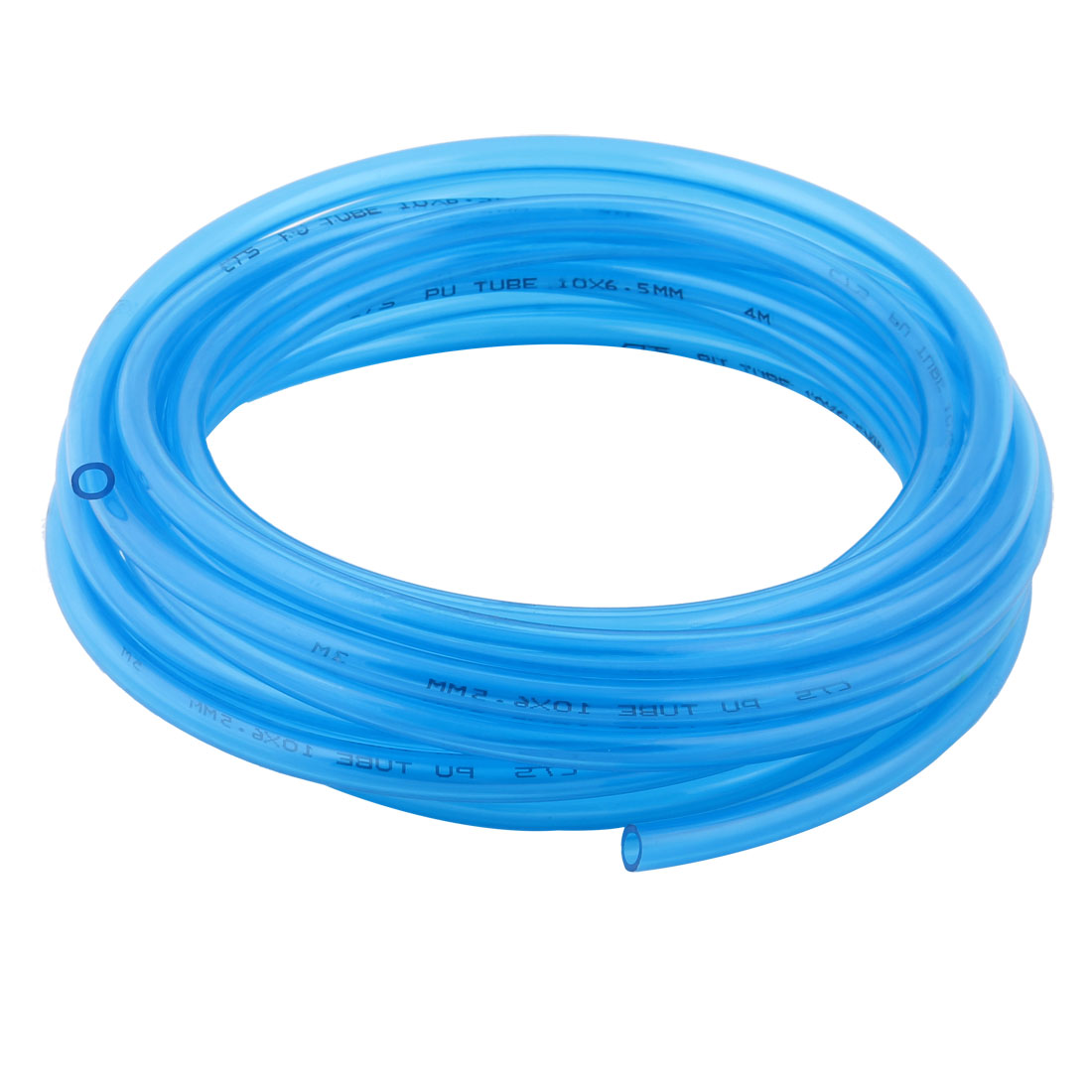 10mm x 6.5mm Hole PU Pneumatic Air Tube Airline Tubing Clear Blue 6.9M Long