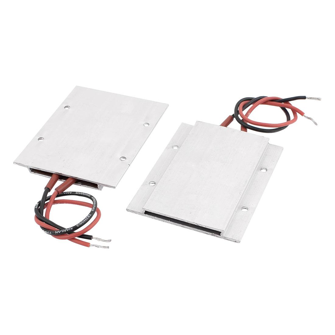 2Pcs 24V 60W 180C Insulation Aluminum Shell PTC Heating Element Thermostat Heater Plate
