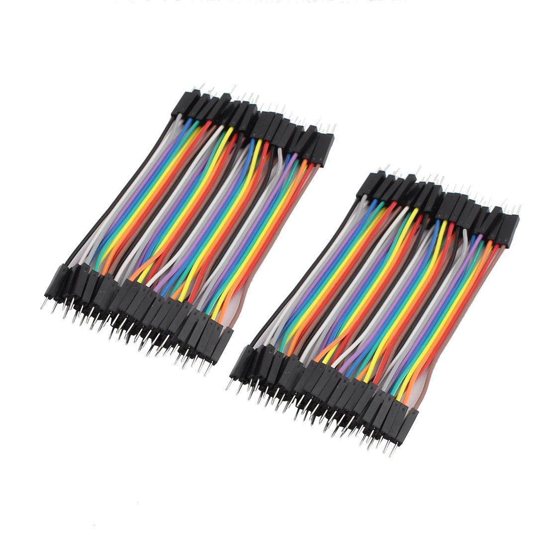 2Pcs Male to Male 44P Jumper Wires Ribbon Cables Pi Pic Breadboard DIY 10cm Long