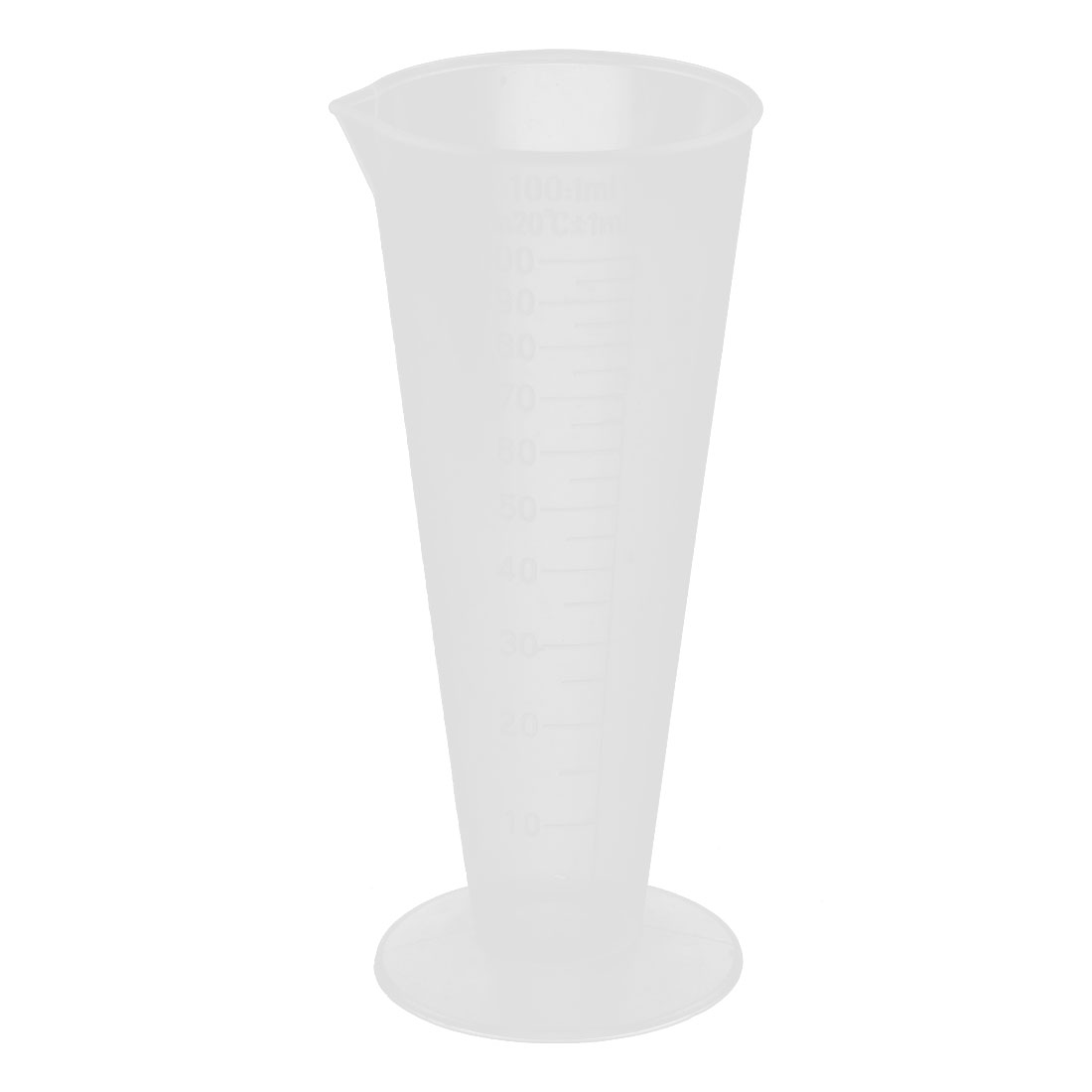 Laboratory Plastic Liquid Graduated Measuring Cup Beaker Clear White 100ml