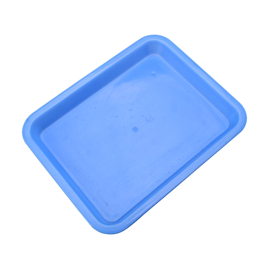 Restaurant Hotel Plastic Square Shaped Fast Food Drinks Serving Tray Blue
