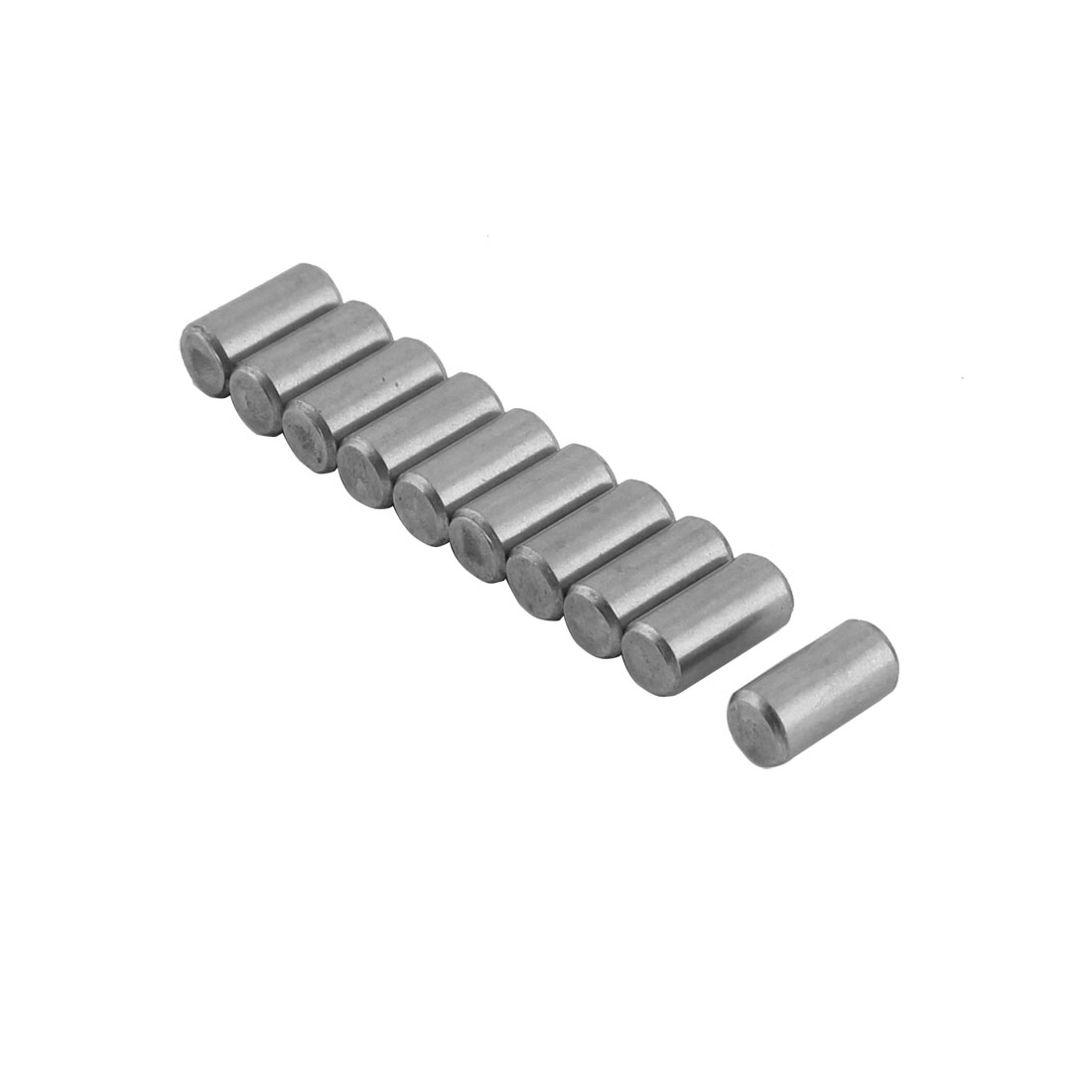 Round 304 Stainless Steel Dowel Pins Fastener Elements 0.2 Inch Nominal Diameter Tolerance 0.4 Inch Length 10 Pcs