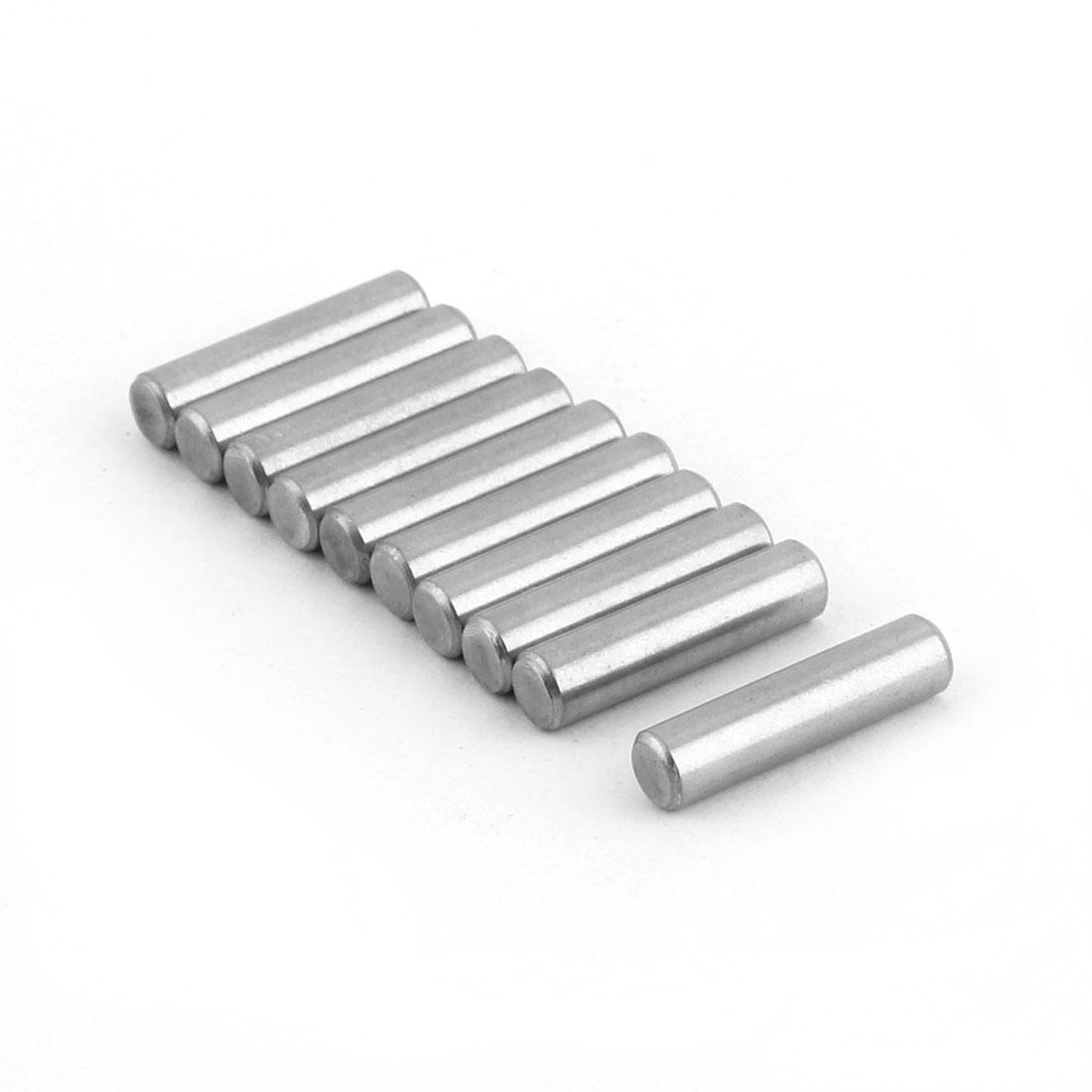 304 Stainless Steel Round Solid Dowel Pins Fastener Elements 0.2 x 0.8 Inch