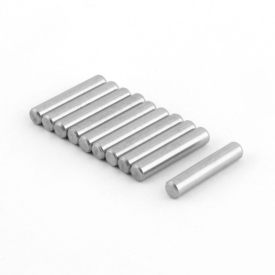 304 Stainless Steel Round Solid Dowel Pins Fastener Elements 5mm Diameter 25mm Length 10 Pcs