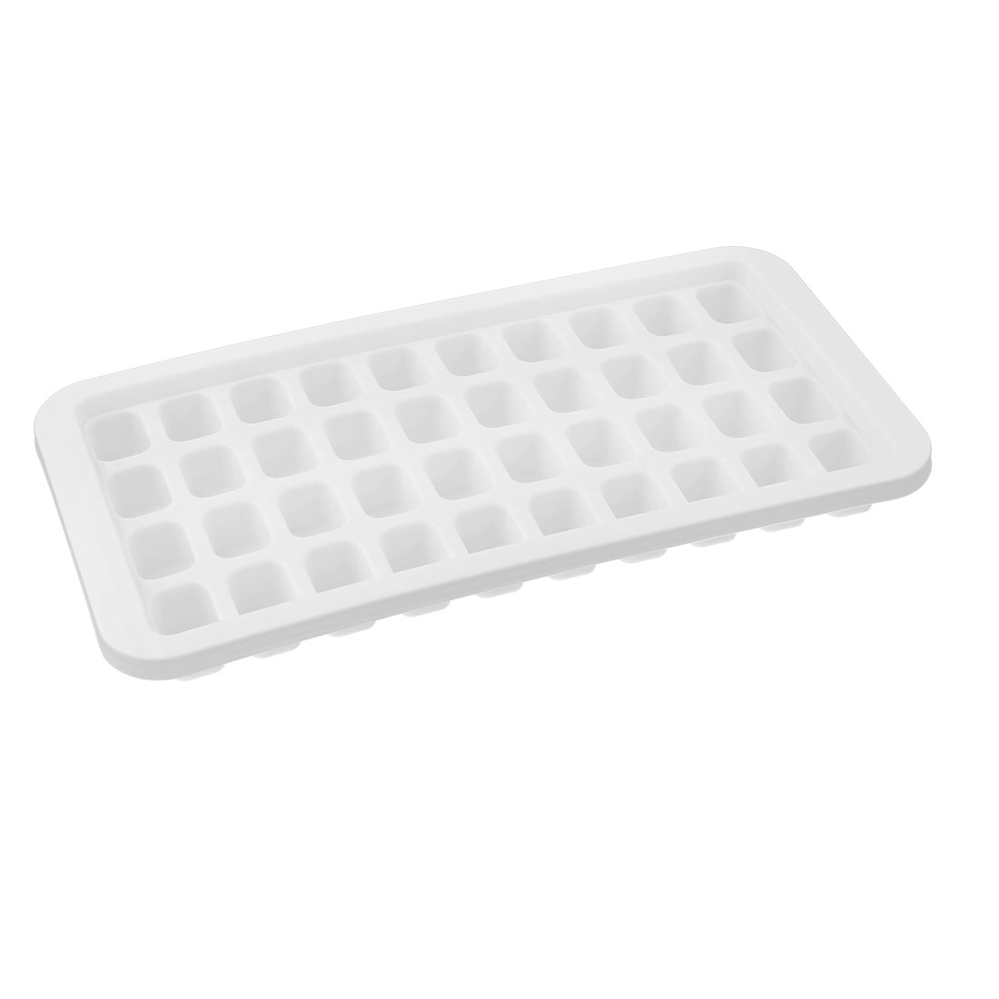 Home Plastic Rectangular 40 Compartment Ice Cube Tray Mould Mold White
