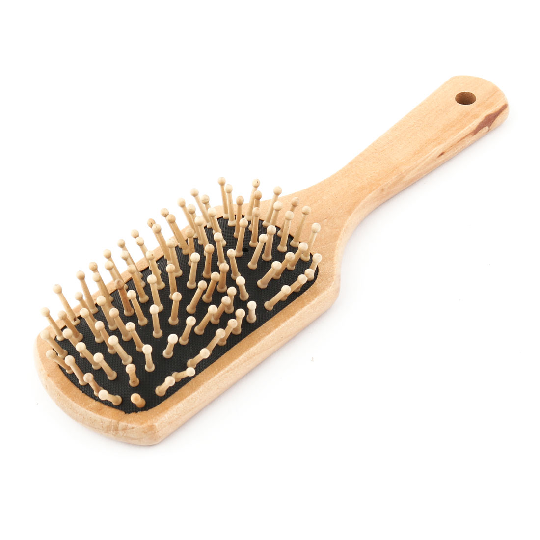 Wooden Rectangular Scalp Massage Hair Care Comb Brush Wood Color