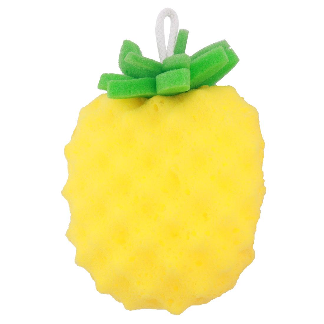 Home Bathroom Sponge Pineapple Shaped Body Cleaning Washing Bath Shower Ball Pouf