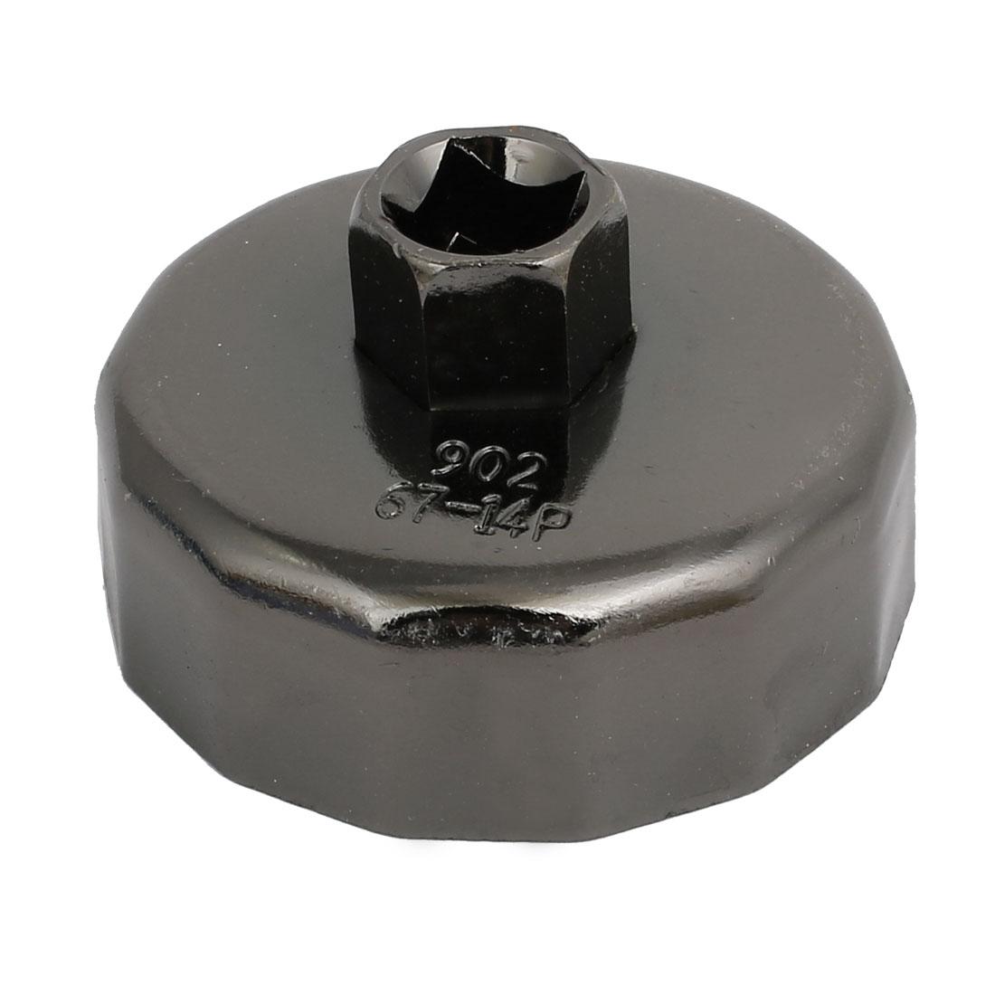 902 14 Flutes 67mm Inner Dia Cap Oil Filter Wrench Spanner Remover Tool