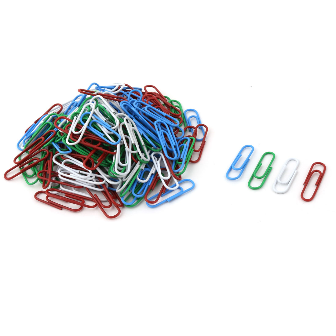 Office Home Plastic Wrapped Document Mark Paper Clip Clamps Assorted Color 164 Pcs