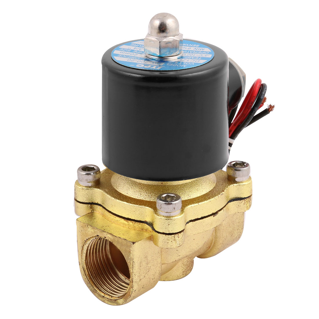 "DC12V 2W-200-20 NC 3/4"" 2 Position 2 Way Copper Air Water Solenoid Valve"