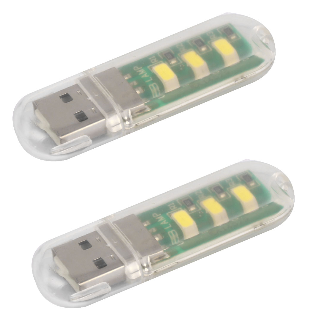 Laptops USB LED Night Light Bright Reading Bulb Camping Lamp 2pcs