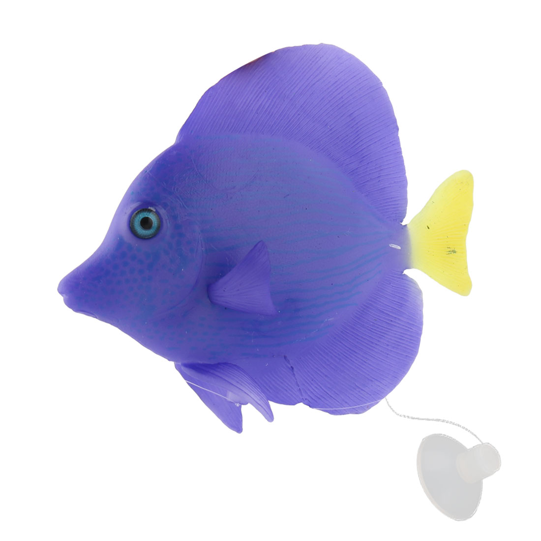Aquarium Floating Artificial Suction Cup Install Glowing Tropical Fish Animal Decoration Blue-purple