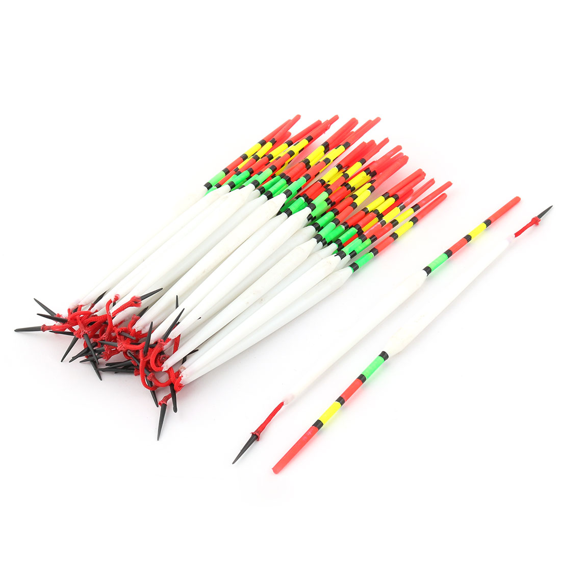 Fishing Angler Tackle Oval Shape Fish Bobber Indicator Floater Float 45pcs