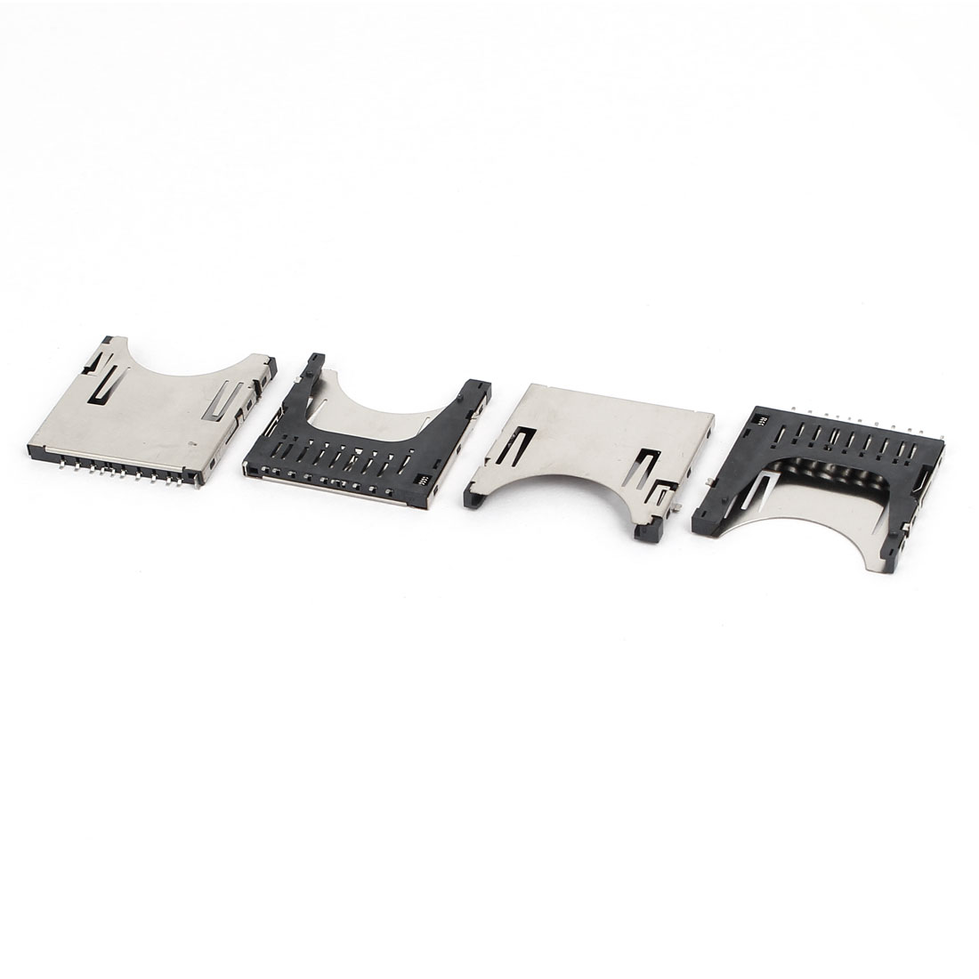 Digital Camera Push Flip Type SD Memory Card Sockets Slots Connectors 4pcs