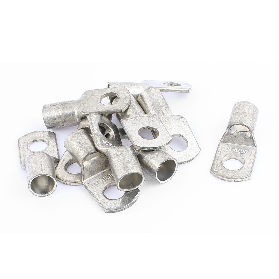 10x SC70-10 10mm Dia Bolt Hole Metal Cable Lug Connector Terminal for 70mm2 Wire