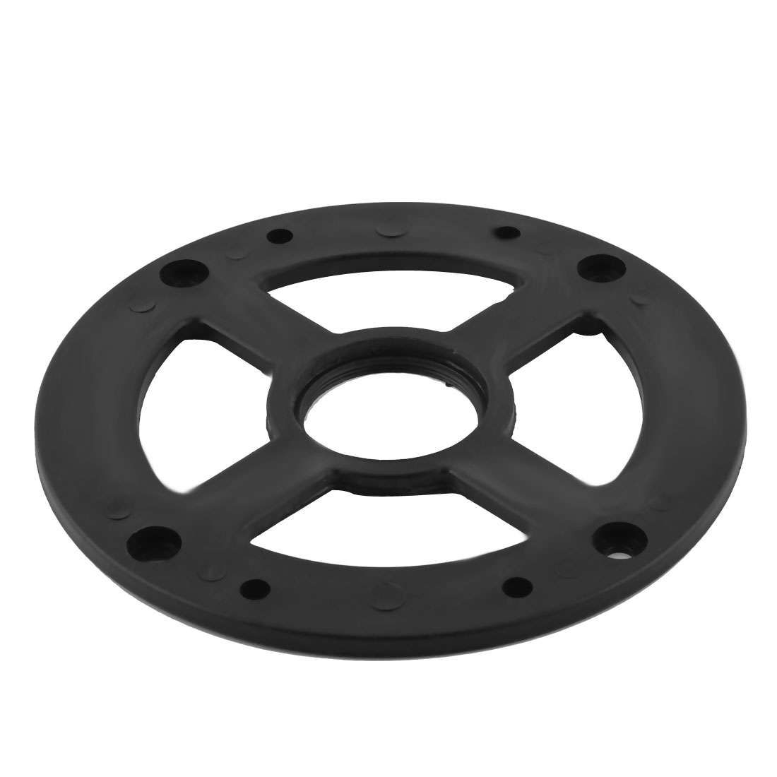 Black Plastic Replacement Base for Motor Machinery 155mm Dia 6mm Thickness