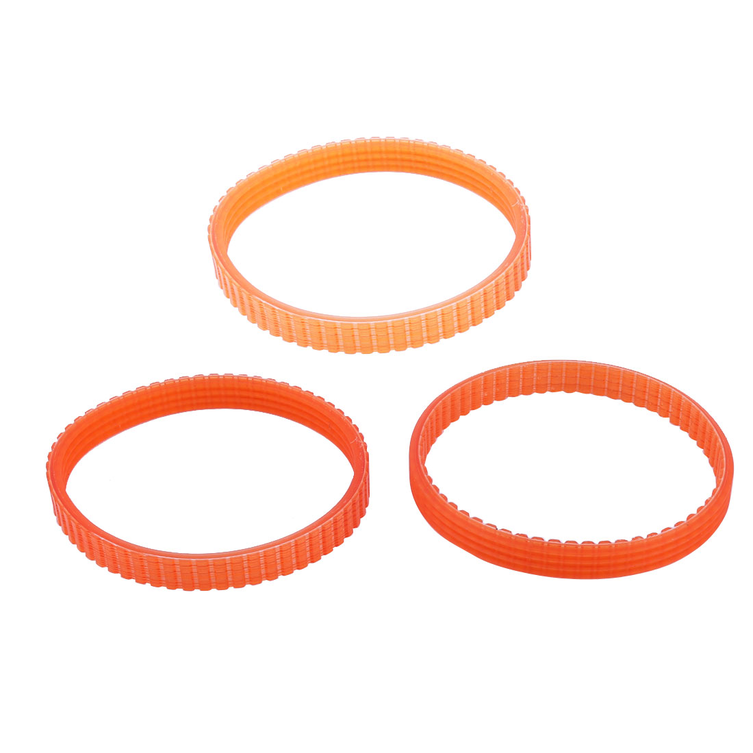Industrial Rubber 1900B Speedometer Standard Timing Belts Orange 23cm Long 3pcs