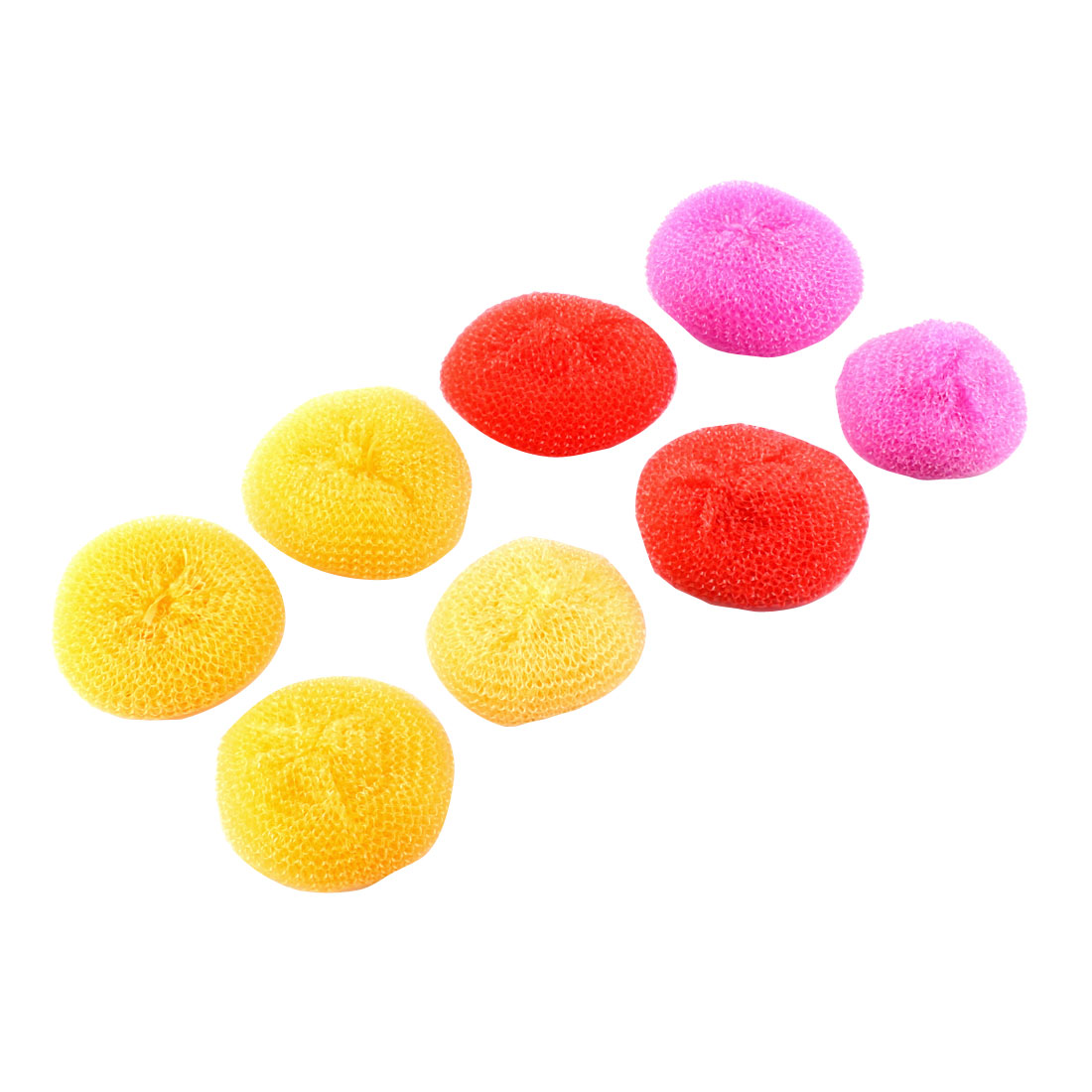 Household Multi Function Dish Pot Spiral Clean Ball Assorted Color 8Pcs