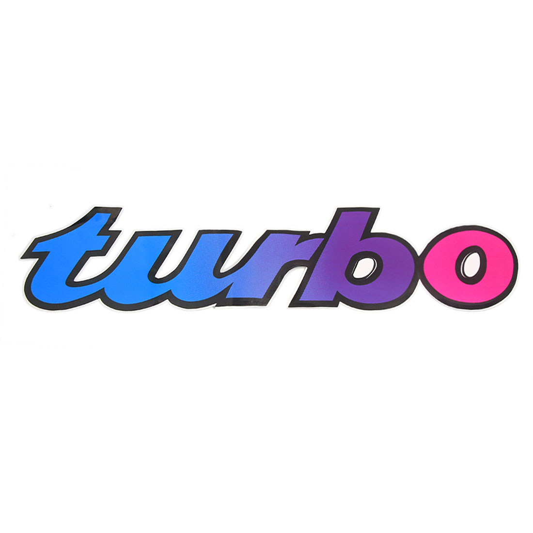 Blue Red Turbo Letter Decal Printed Styling Adhesive Removable Car Sticker
