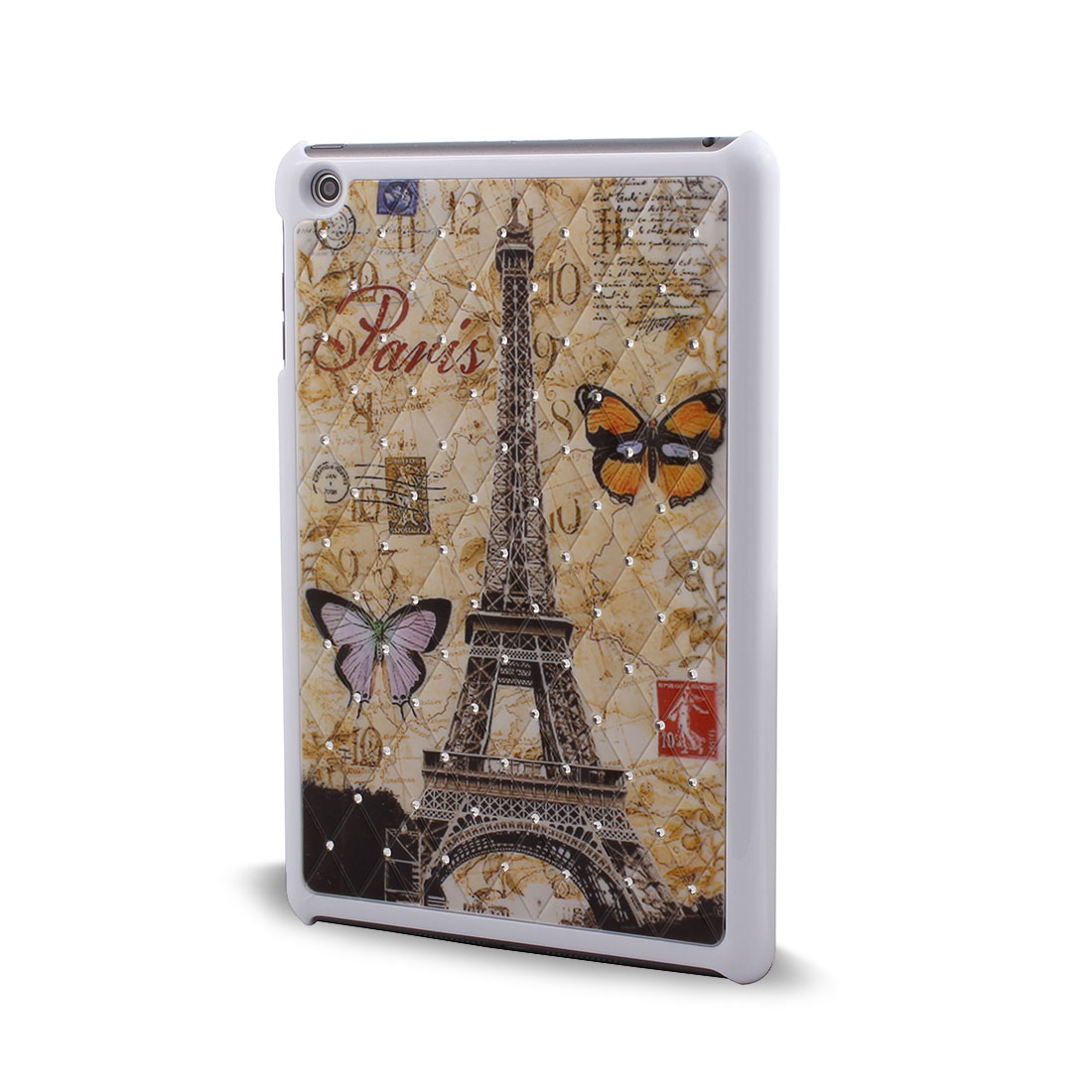 Plastic Eiffel Towel Pattern Back Protect Shell Case Cover for Apple iPad Mini 1/2/3