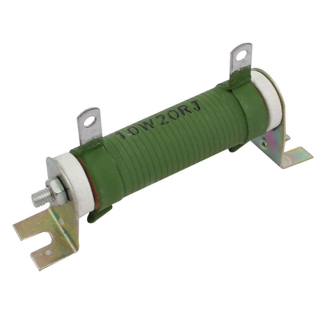 10W 20 Ohm Nonflammable Fixed Type Wire Wound Resistor Green