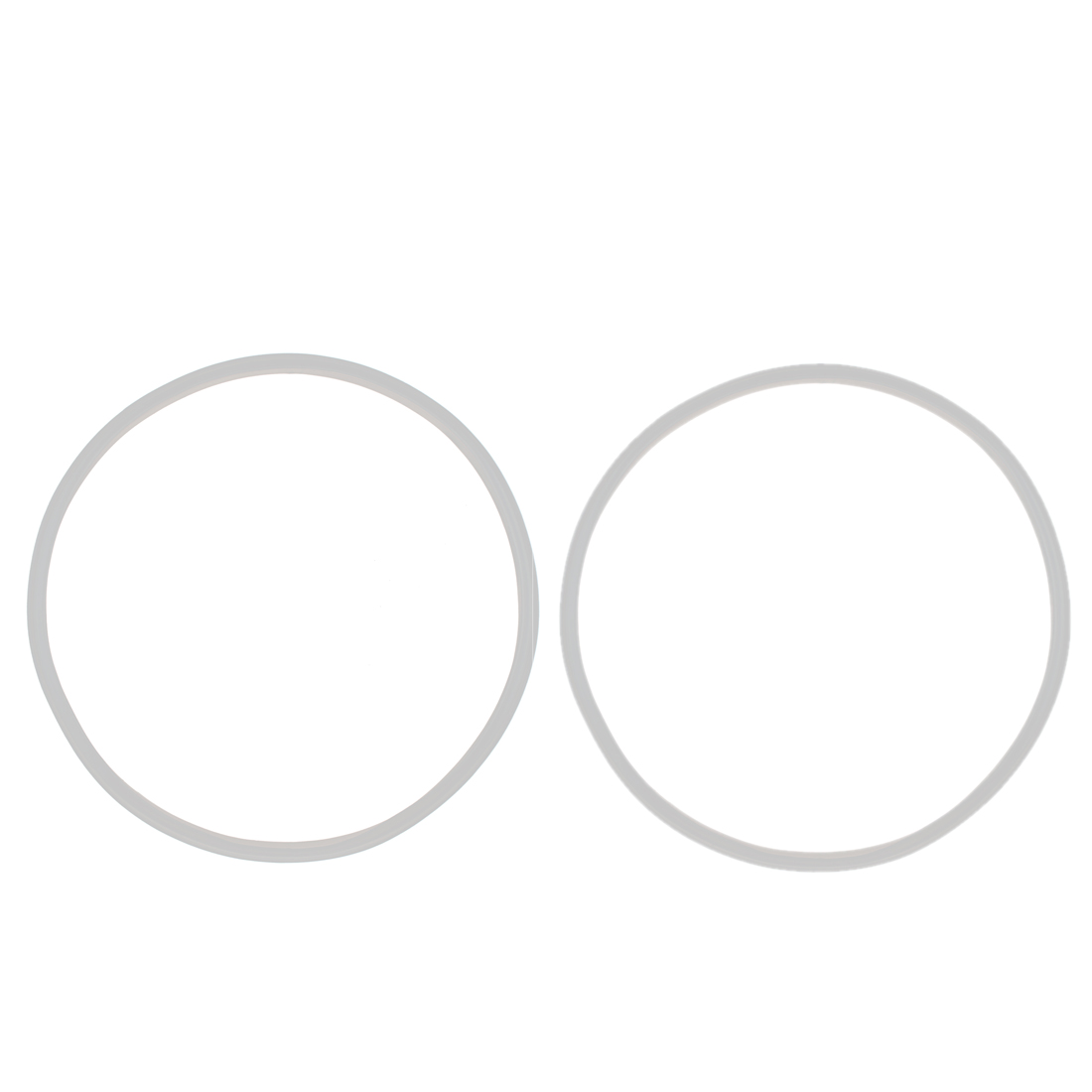Home Rubber Kitchenware Pressure Cooker Part Gasket Sealing Ring Clear 28cm Inner Dia 2pcs