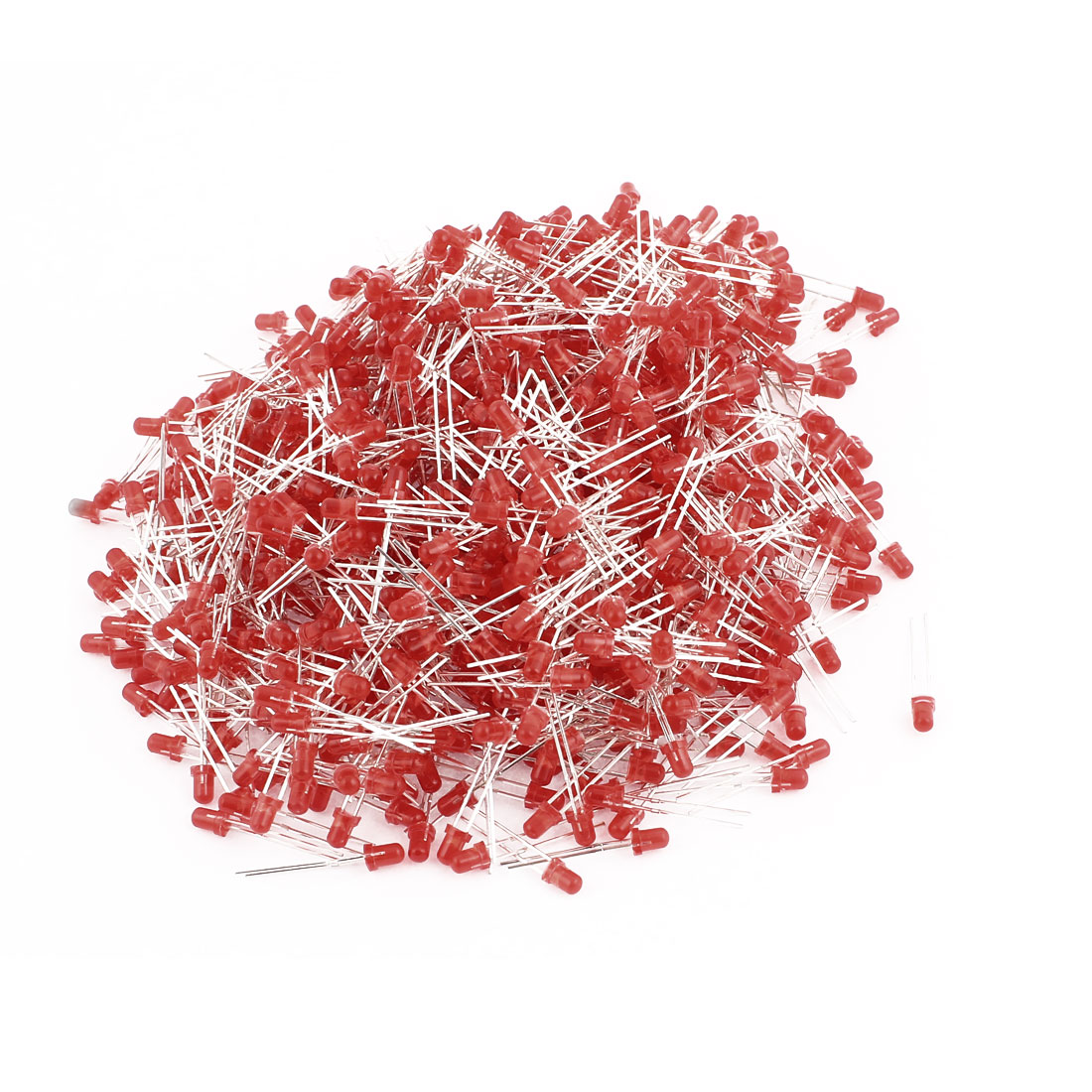 1000Pcs 2 Terminals 3mm Bulletheaded Red LED Bulb Red Light Emitting Diode