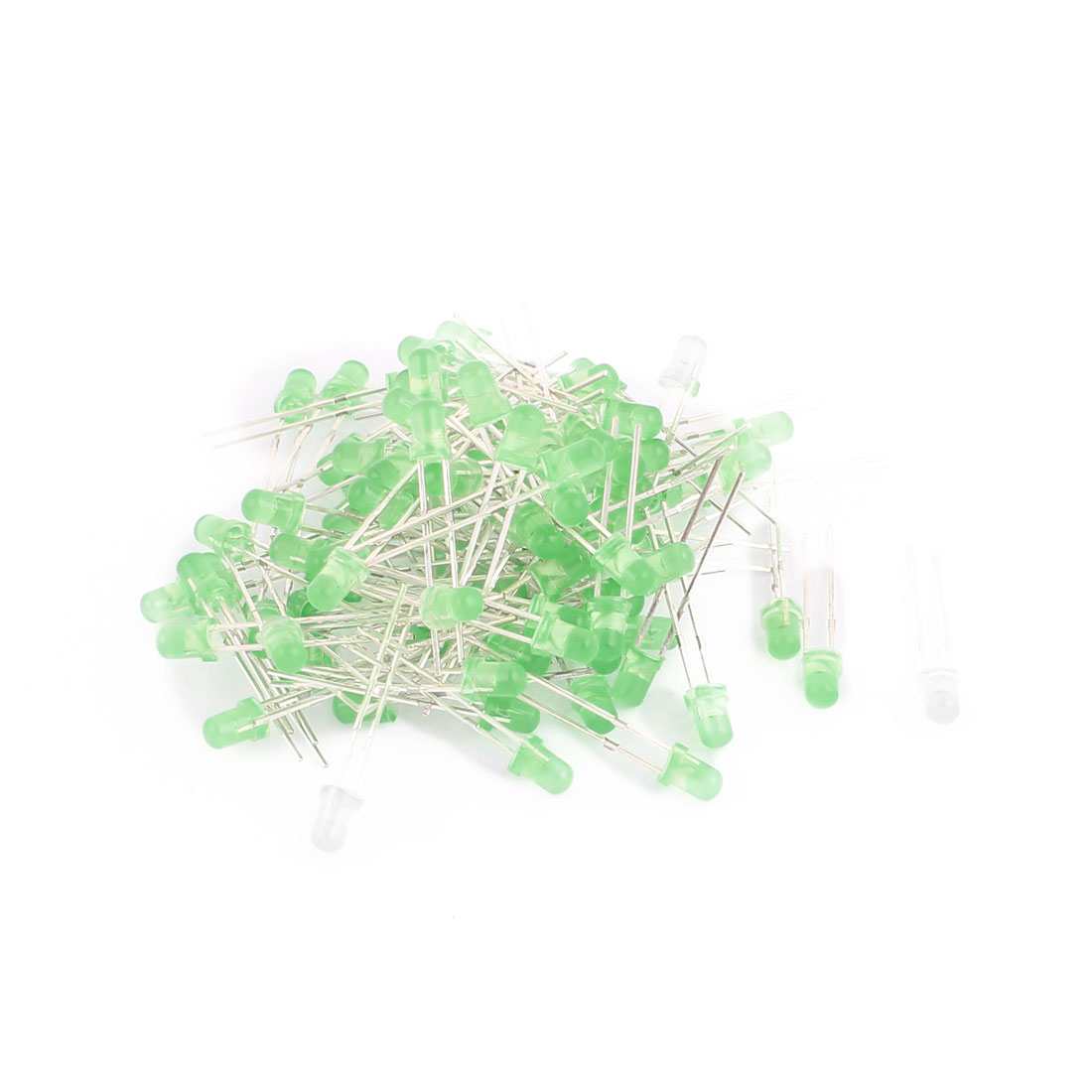 2 Terminals Green Light Emitting Diode 3mm Green LED Bulb 100pcs for LED Lamp