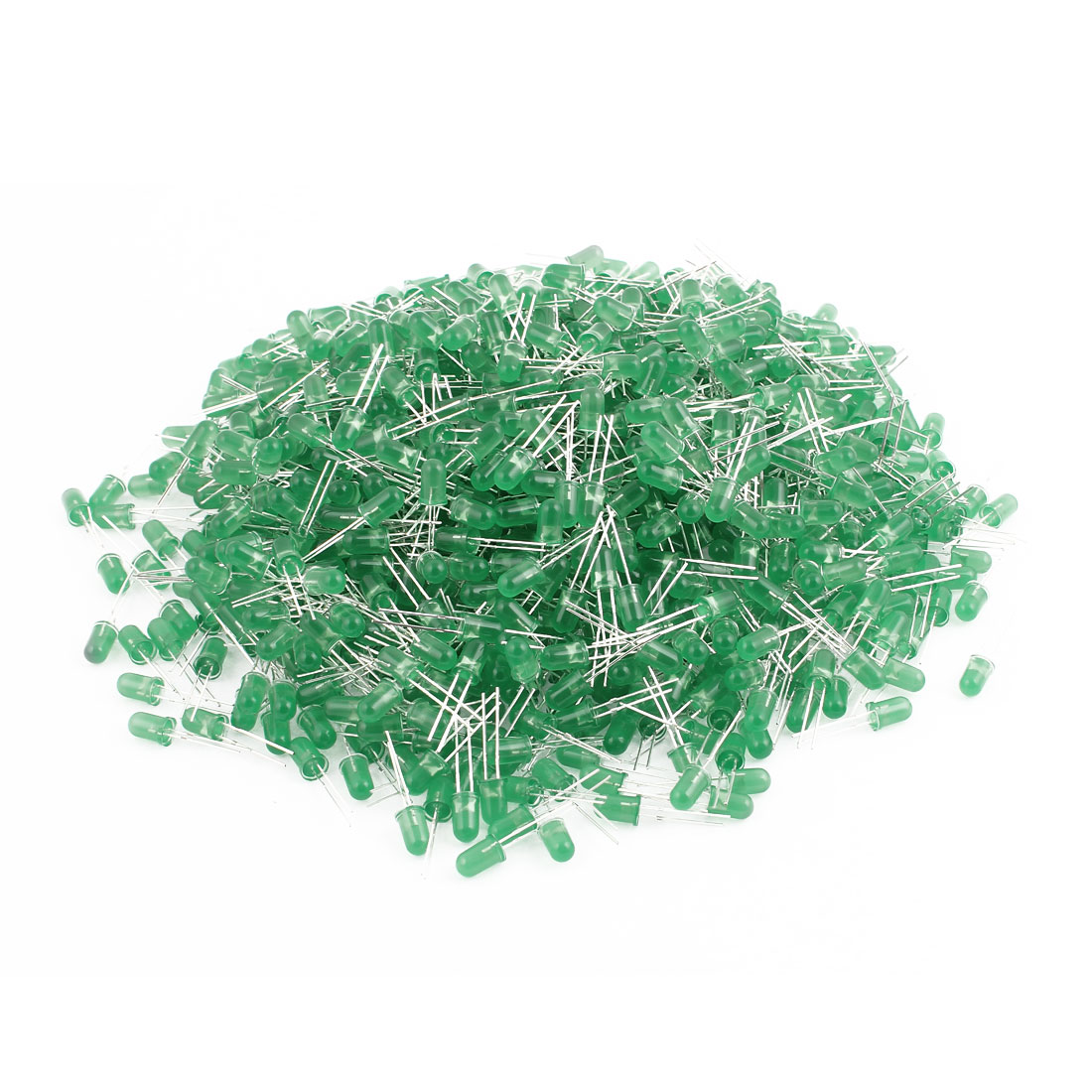 1000pcs 2 Terminal Green Light Emitting Diode 5mm Round Green Bulb for LED Light