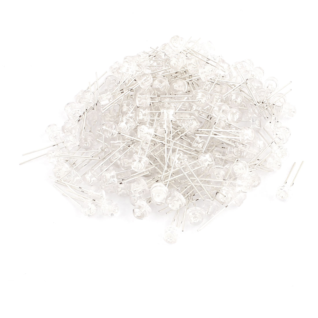 200 Pcs 2 Terminals 5mm Straw Hat Yellow Light LED Bulb Emitting Diodes